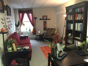Maria Connolly's Neways Center Office in Ashland Oregon is warm, welcoming, and calming place to benefit from her somatic coaching.