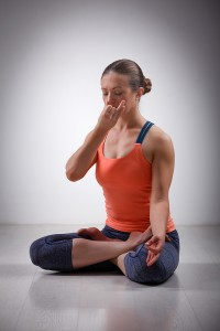 Yoga alternate nostril breathing technique