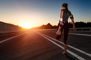 Stretching before running is a microhabit that makes a difference.