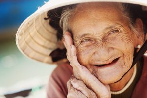 Older woman is happy being genuine and authentic